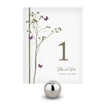 Lot de 12 numéros de table Motif floral et papillons personnalisables2