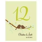 12 Numéro de table Oiseaux à personnaliser3