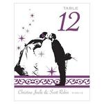 12 Numéros de table Baiser des mariés à personnaliser3