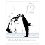 12 Numéros de table Baiser des mariés à personnaliser4