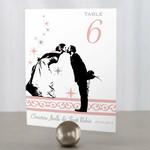 12 Numéros de table Baiser des mariés à personnaliser2