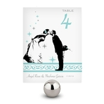 12 Numéros de table Baiser des mariés à personnaliser1