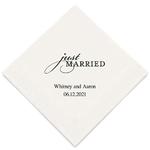 serviette-just-married1