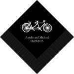 serviettes papier Tandem romantique personnalisées