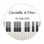 24 Stickers piano personnalisés