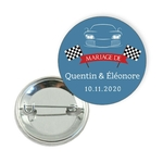 Badge-thème-voiture-de-course