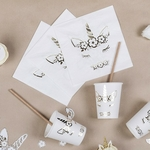 16-serviette-anniversaire-licorne-dorée