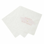 serviette-papier-happy-birthday-rose-blanc