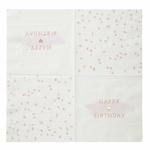 serviette-anniversaire-rose-blanche