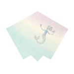 16-serviettes-theme-sirène-pastel