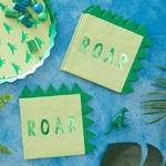 serviette-anniversaire-theme-dinosaure