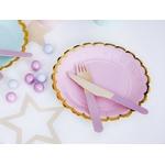 assiette-rose-bordure-rose-clair