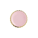 assiette-rose-bordure-rose
