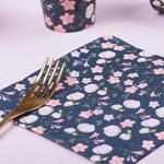 serviette-papier-fleuri