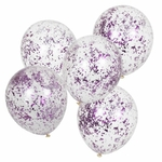 ballons-micro-confettis-rose-fuschia