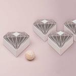 boite-dragée-diamant-argenté