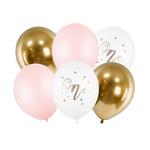 ballon-anniversaire-1an-rose-doré