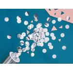 confetti-table-argenté