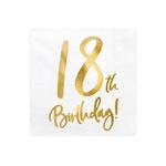 serviette-anniversaire-18ans-doré