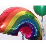 Ballon anniversaire forme arc en ciel