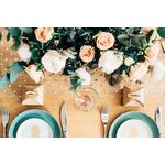 chemin-table-mariage-pois-dorés