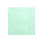 20 serviettes Vert d'eau