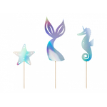 3 décors gateaux Sirène