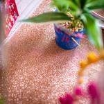 chemin-table-rose-gold-pailleté-brillant