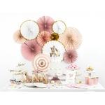 rosaces-papier-rose-doré