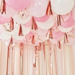 Kit-Ballons -Rose-Gold -Tassels -pour -Plafond