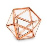 Boite à alliances hexagonale cuivre gros plan
