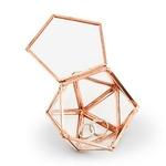 Boite à alliances hexagonale cuivre ouverte
