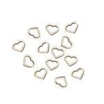 Confettis coeurs ajourés sur fond blanc