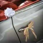 Kit voiture des mariés Jute dentelle portière