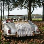 Kit voiture des mariés Jute dentelle sur voiture