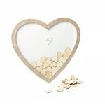 Livre d'or Cadre en forme de Coeur pailletés