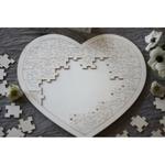 Livre dOr Coeur grand puzzle en bois décomposé