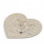 Livre d'Or Coeur grand puzzle en bois fond blanc