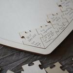 Livre dOr Coeur grand puzzle en bois gros plan