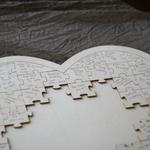 Livre dOr Coeur grand puzzle en bois texte écrit