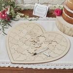 Livre dOr Coeur grand puzzle en bois