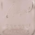 Mini Pot en Verre LOVE style Mason Jar gros plan