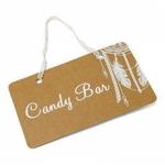 Pancarte %22 Candy Bar %22 Boho 25 x 15.5 cm