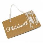 Pancarte %22 Photobooth %22 Boho 25 x 15.5 cm