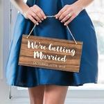 Petit panneau mariage Personnalisable gros plan