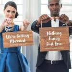 Petit panneau mariage Personnalisable présentation