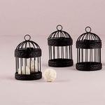 Petite cage à oiseau noire présentation