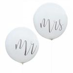 Ballon Géant Mr & Mrs 91 cm sur fond blanc