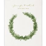 Fond Photobooth couronne de feuilles personnalisable