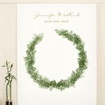 Fond Photobooth couronne de feuilles personnalisable présentation